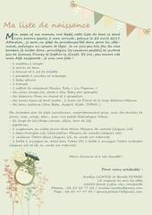 Fichier PDF liste de naissance