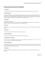 manuscript preparation guidelines
