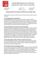 2016 21 novembre declaration cgt a la cdsp reseau