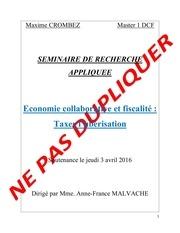 economie collaborative et fiscalite taxer l uberisation