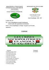 les crises en angola au xxe siecle
