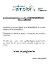 Fichier PDF attestation presence