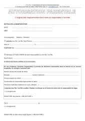 autorisation parentale et decharge
