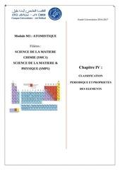 chapitre 4 ne classification periodique