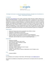 job profil assistante de direction