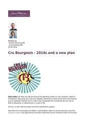 cru bourgeois 2014s and a new plan