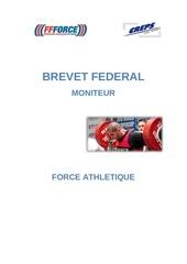 plaquette brevet federal moniteur