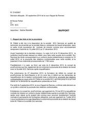 rapport public conseilleur rapporteur cass soc 14 25 907