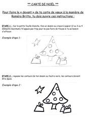 etapes de realisation de la carte de noel