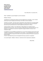 lettre motivation restauration