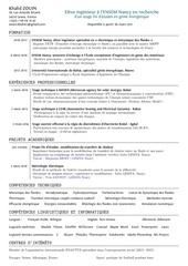 Fichier PDF cv zouin khalid