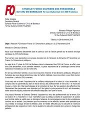 reaction fo emission france 3 dimanche en politique