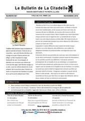 bulletin de la citadelle nume ro1 nov2016