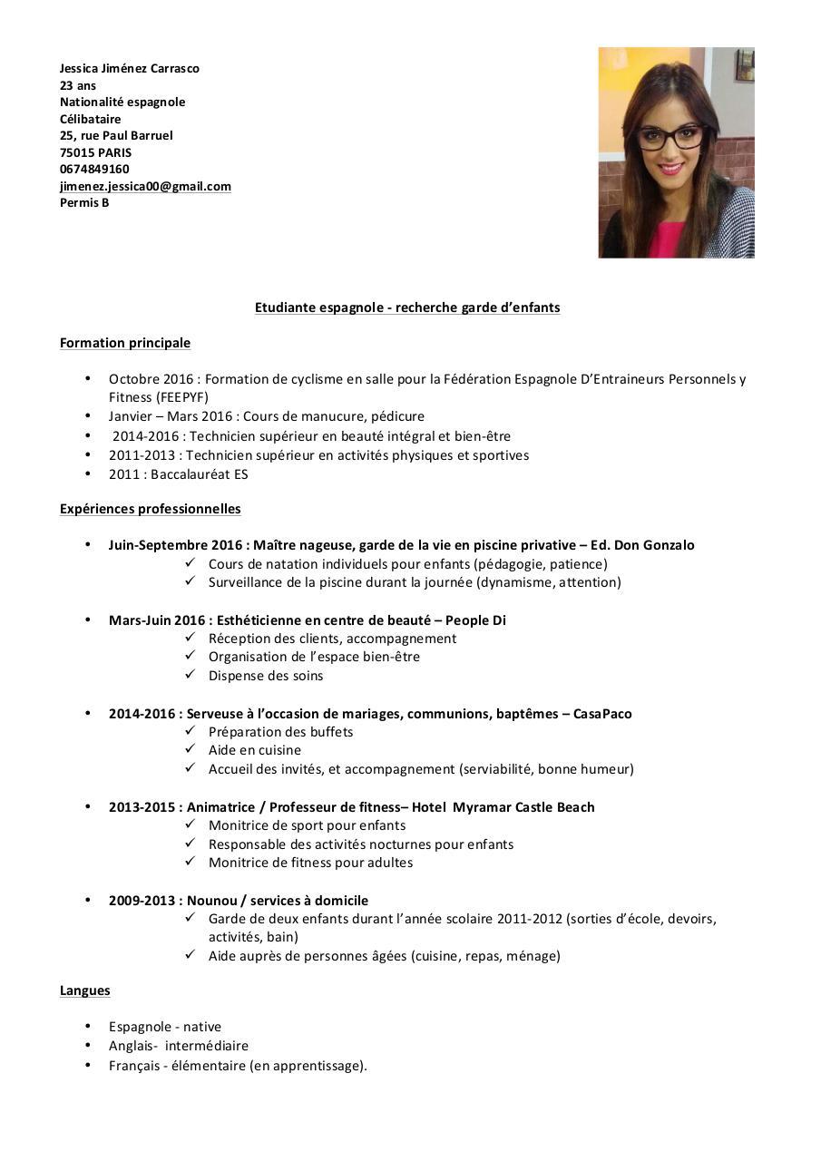 cv jessica par bastien fitoussi - cv jessica pdf