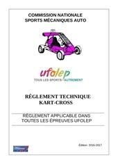 reglement kart cross 2016 2017