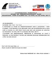 Fichier PDF autorisation lec soustons 2017