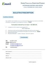 bulletin d inscription sfc laser 1