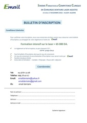 bulletin d inscription sfc laser