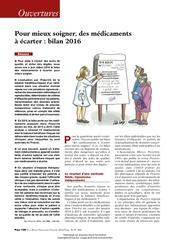 pour mieux soigner des medicaments a ecarter bilan 2016