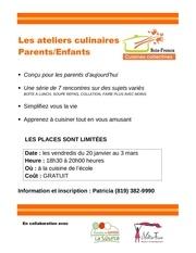ateliers culinaires parent enfant chesterville