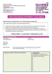 fiche inscription festiprev 2017