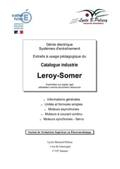 moteurs asyncrhones a cages leroy somer