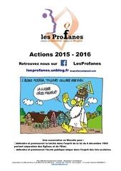presentation les profanes 2015 2016