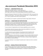 reglement jeu concours de cembre 2016 jean maxime paris