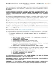 2016 11 30 annonce stagiaire operations xl recycling