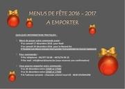 menus de fete a emporter 2016 2017