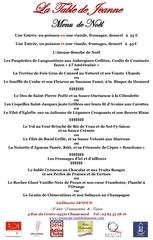 menu de noel 2016