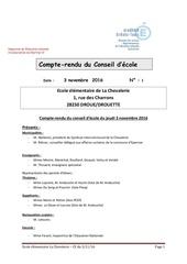 projet conseil ecole 3nov2016
