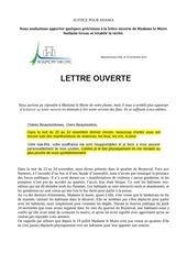 re ponse a la lettre ouverte de madame le mairepdf