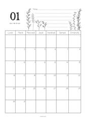 calendrier janvier 2017 celine graphiste
