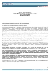 montebourg discours entree officielle campagne primaire