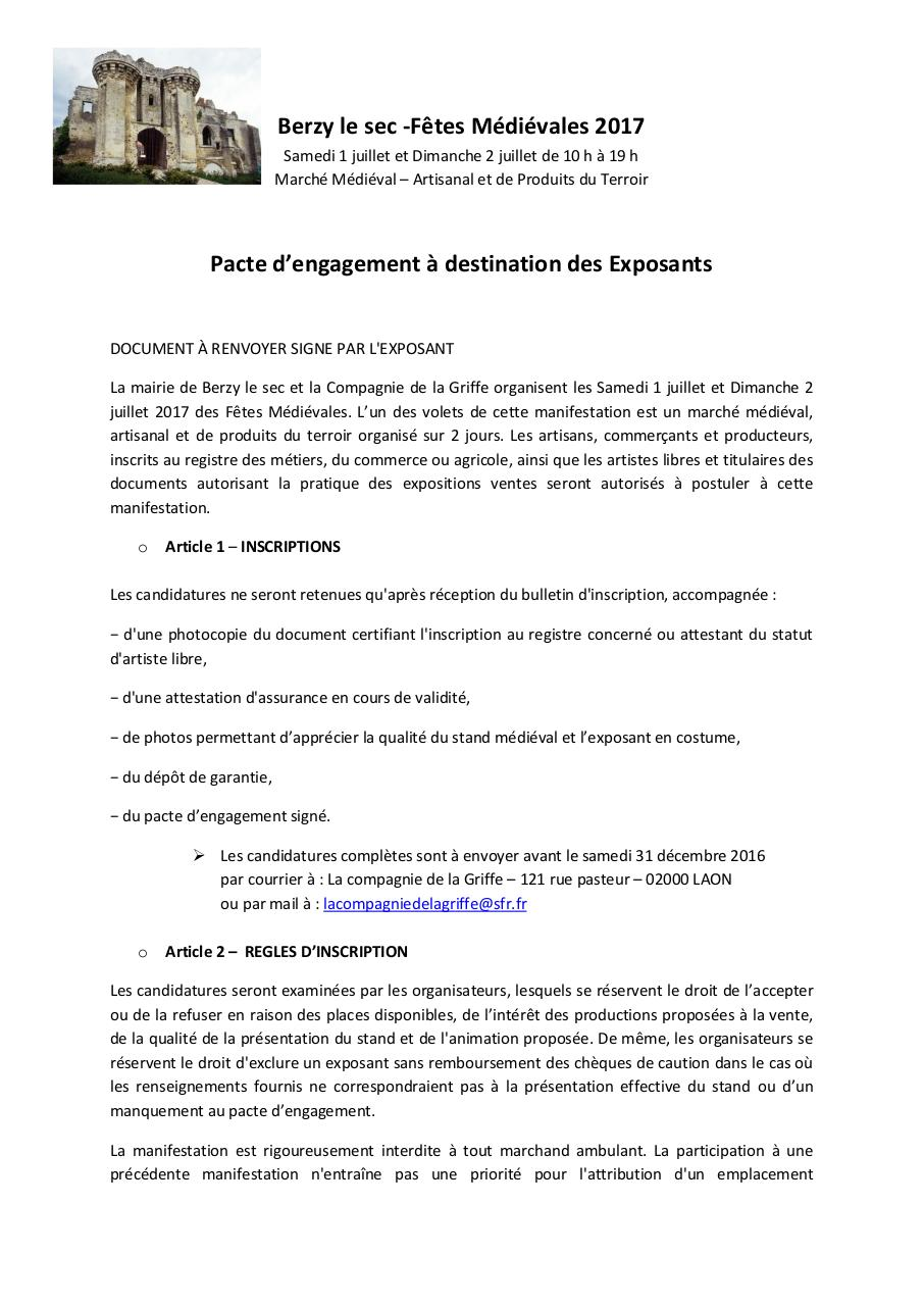 Aperçu du document Berzy le sec pacte exposants.pdf - page 1/4