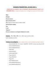 Fichier PDF dossier d inscription et re gles de course