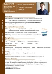 Fichier PDF cv stage 2016