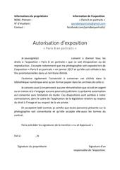 autorisation exposition