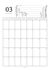 calendrier mars 2017 celine graphiste