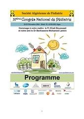 congres national de pediatrie 2016