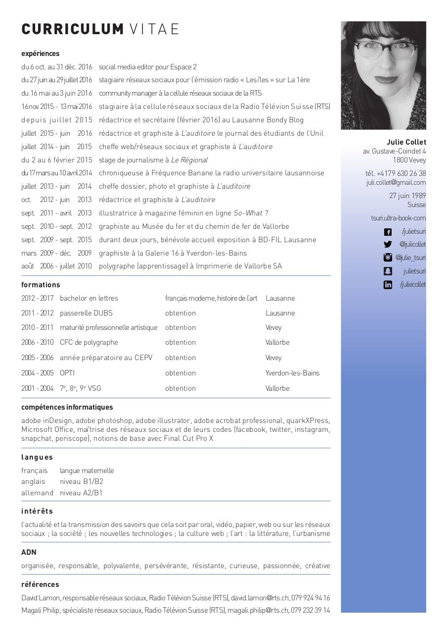 cv julie collet  cv julie collet pdf