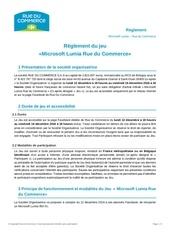 reglement jeu concours lumia microsoft rue du commerce 1