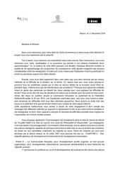 reponse lettre ministre collectifs