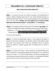 Fichier PDF concours du tribute reglement 2017