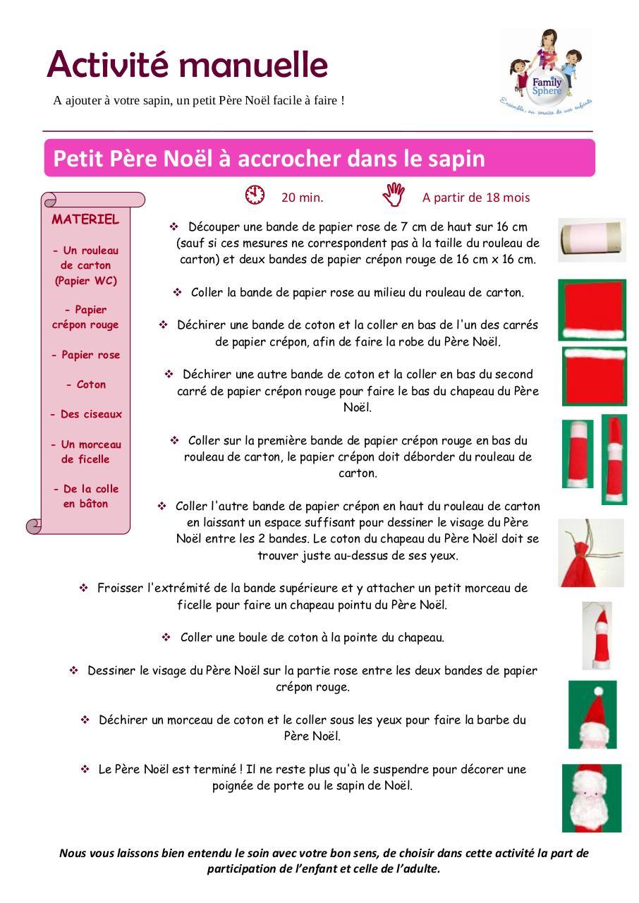 Célèbre Fiche d'activité - Petit père noël.pdf par Catherine Duban Doyard  NV83