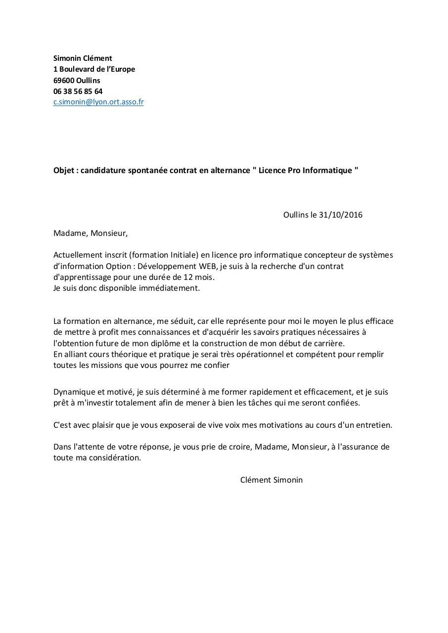 Lettre Motivation Par Laurent Fichier Pdf