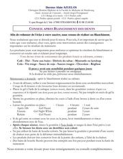 Fichier PDF conseils post blanchiment