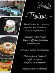 Fichier PDF flyer traiteur