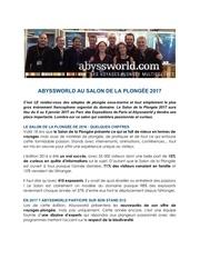 a valider abyssworld au salon de la plonge e 2017 1